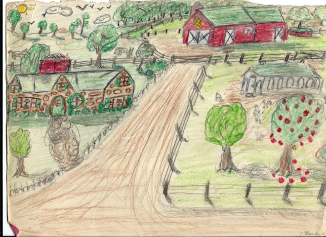 1969 Jan-6 Farm crayon-pencil